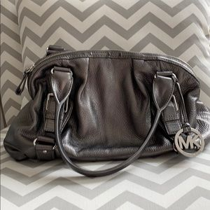 Michael Kors Silver Leather Bag
